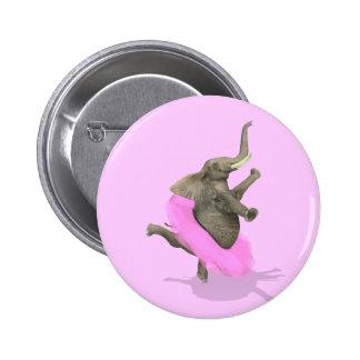Ballet Elephant En Pointe 6 Cm Round Badge