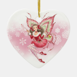 Ballet Fairy Holiday Ornament - Heart