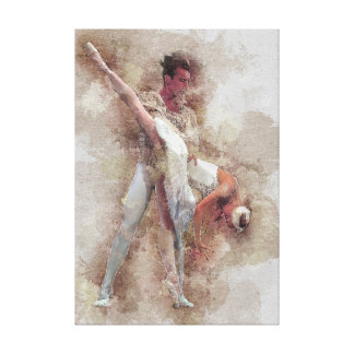 Ballet Faux Painting Canvas Print