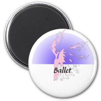 Ballet Figure 6 Cm Round Magnet