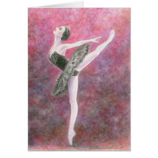 Ballet Greeting Card - Black Swan