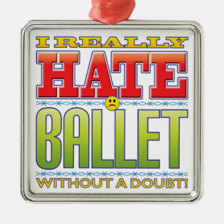 Ballet Hate Face Christmas Ornament