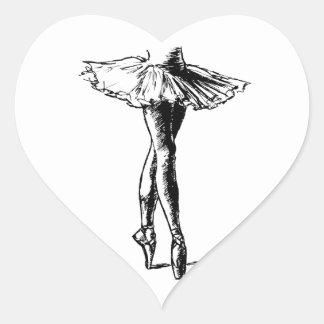 Ballet Heart Sticker