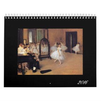 Ballet in Art, 2016 Dance Calendar, Degas, Renoir Wall Calendars