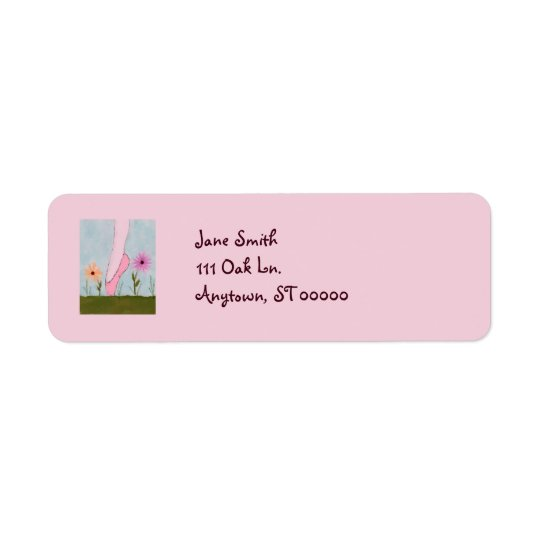 Ballet in Flowers Customisable Address Labels