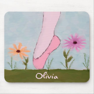 Ballet in Flowers Customizable Mousepad