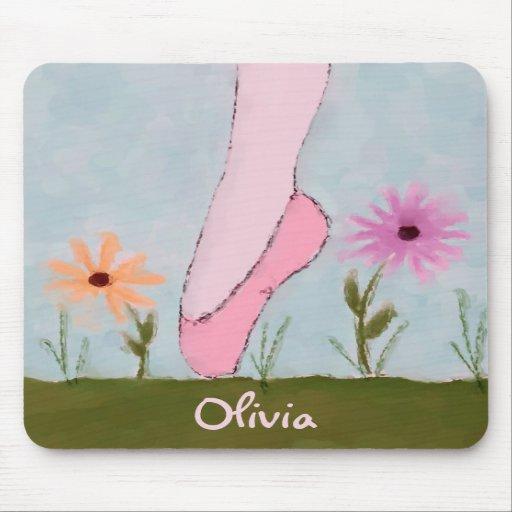 Ballet in Flowers Customizable Mousepad