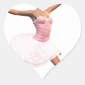 Ballet Jete Heart Sticker