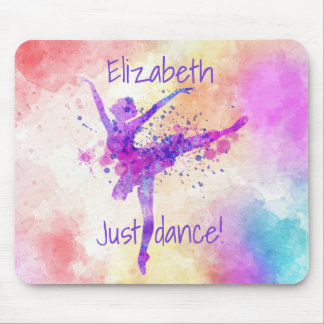 Ballet Just Dance Painterly Mouse Pad