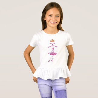 Ballet-Keep Calm & Point Your Toes Ruffled T-Shirt