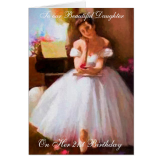 BALLET LESSON 21ST BIRTHDAY CARD