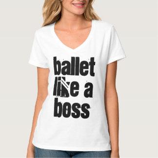 Ballet Like A Boss Women's White V-neck T-shirt