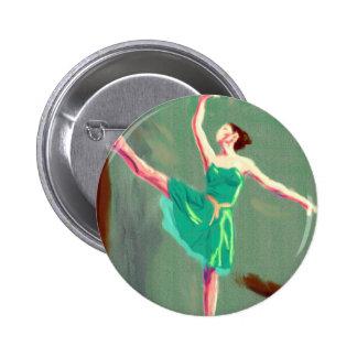 Ballet Love Art 6 Cm Round Badge