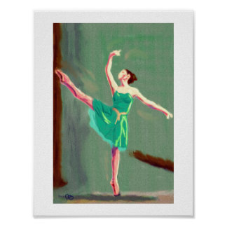 Ballet Love Art Poster