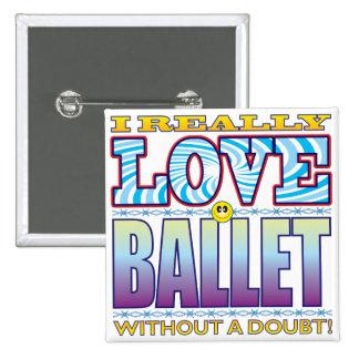 Ballet Love Face 15 Cm Square Badge