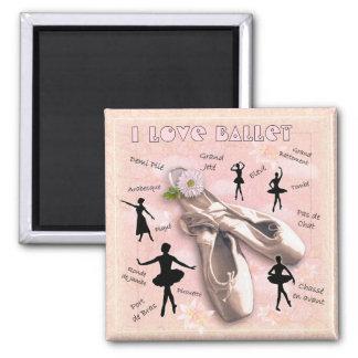 Ballet Square Magnet