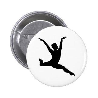 Ballet man 6 cm round badge