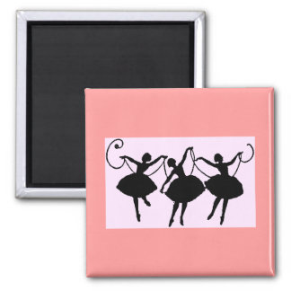 Ballet merchandise square magnet