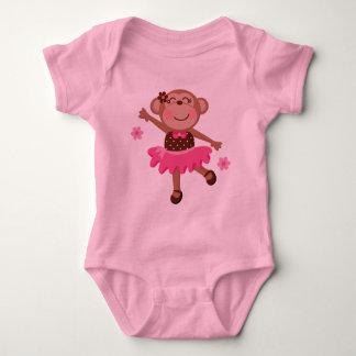 Ballet Monkey Cute Baby Bodysuit