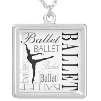 Ballet Necklace (white) - Arabesque