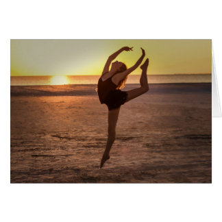 Ballet on the Beach Note or Greeting Card