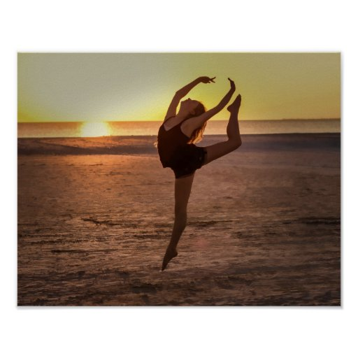 Ballet on the Beach Print or Poster