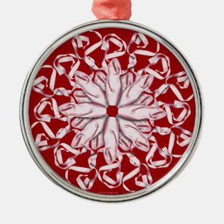 Ballet Pattern (pink) Christmas Ornament
