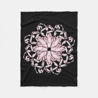 Ballet Pattern (pink) Fleece Blanket
