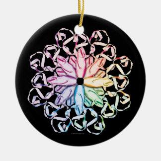 Ballet Pattern (spectral) Christmas Ornament