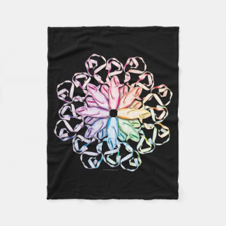Ballet Pattern (spectral) Fleece Blanket