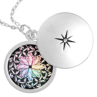 Ballet Pattern (spectral) Locket Necklace