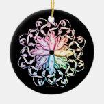 Ballet Pattern (spectral) Round Ceramic Decoration