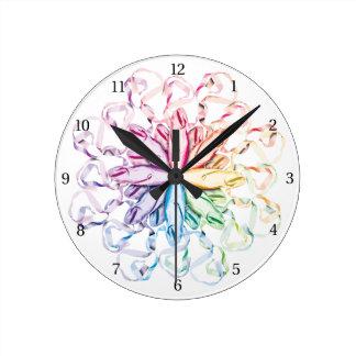 Ballet Pattern (spectral) Round Clock