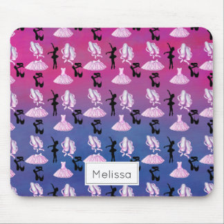 Ballet Pattern with Dance Attire and Ballerina Mouse Pad