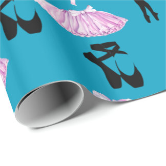 Ballet Pattern with Dance Attire and Ballerina Wrapping Paper