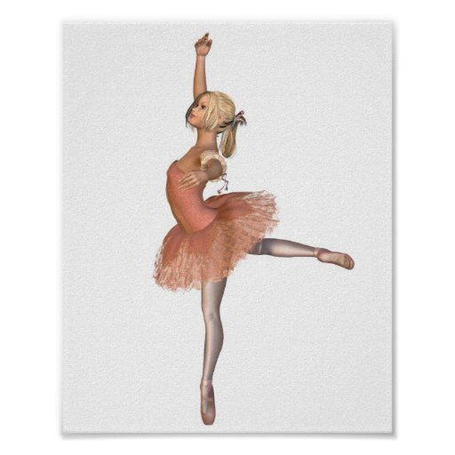 Ballet Performance - Attitude Pose Posters
