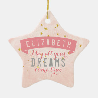 Ballet Pink Baby Sweet Dreams Ceramic Star Decoration