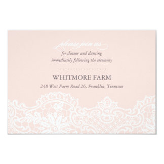 Ballet Pink Lace Wedding Enclosure Reception Card 9 Cm X 13 Cm Invitation Card