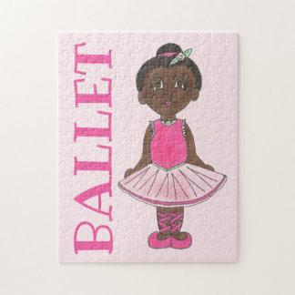 BALLET Pink Tutu Ballerina Girl Dance Recital Jigsaw Puzzle