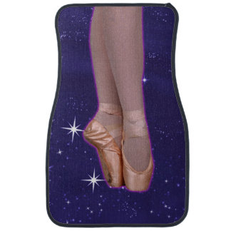 Ballet Point Shoes in the Stars Floor Mat