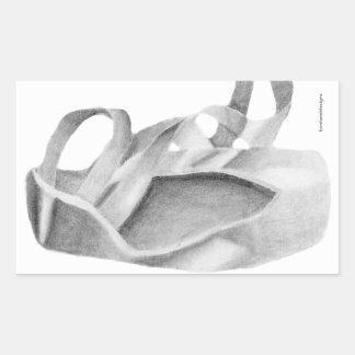 Ballet Pointe Shoe Graphic Rectangular Sticker
