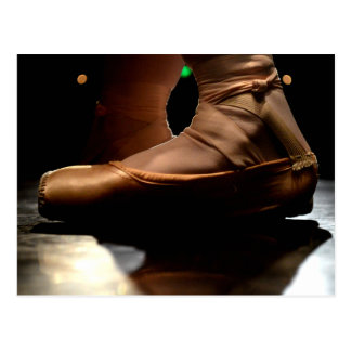 Ballet Pointe Shoe Post Card