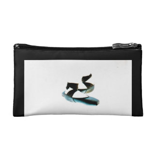 Ballet Pointe Shoes Cosmetic Bag ( Black & White)