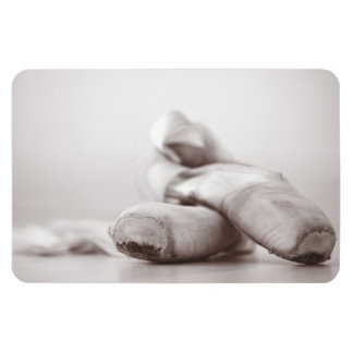 Ballet Pointe Shoes on Dance Floor Template Rectangular Photo Magnet