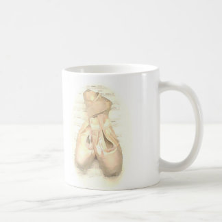Ballet Pointe Shoes Painted Coffee Mug