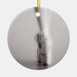 Ballet Pointe Shoes Sepia Dancing Slippers Christmas Ornament