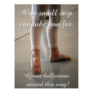 BALLET POSTCARD CUTE BALLERINA DANCER MOTIVATION