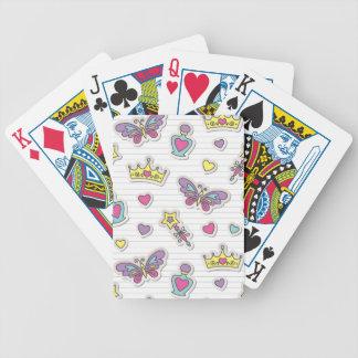 ballet princess pattern bicycle playing cards
