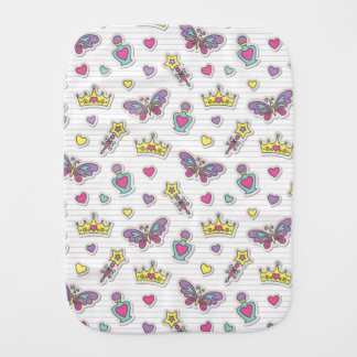 ballet princess pattern burp cloth