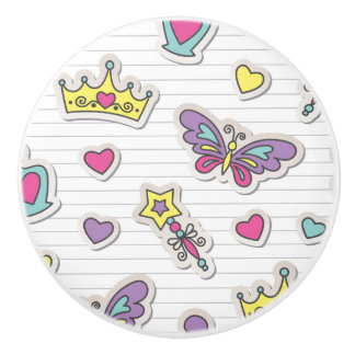ballet princess pattern ceramic knob